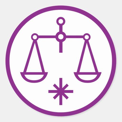libra scales symbol horoscope zodiac sign stickers zazzle