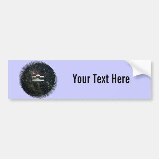 Libra Scales Zodiac Star Sign Universe Bumper Stickers