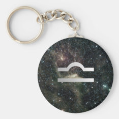 Libra Scales Zodiac Star Sign Universe Keychain at Zazzle