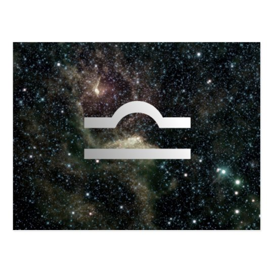 Libra Scales Zodiac Star Sign Universe Postcard