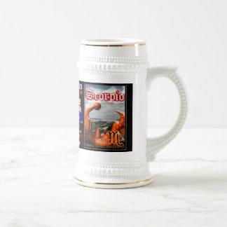 Libra Scorpio cusp astrology large silver trim Mugs