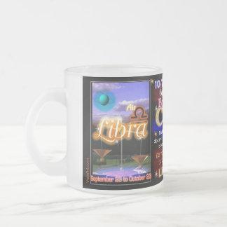 Libra Scorpio cusp astrology small glass 10 Oz Frosted Glass Coffee Mug