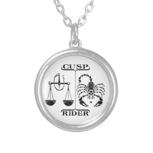 Libra/Scorpio Silver Plated Necklace