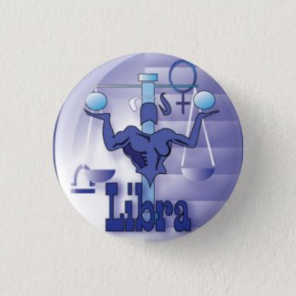 Libra-September 23 to October 22 Pinback Button