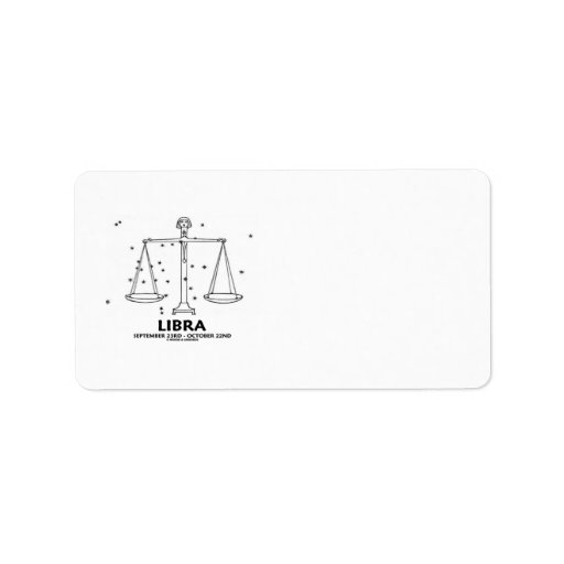 Libra (September 23rd  - October 22nd) Personalized Address Labels