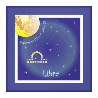 Libra September 24 tons of October 23 canvas