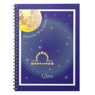 Libra September 24 tons of October 23 note booklet Spiral Notebook