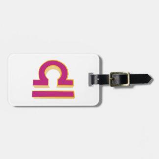 Libra Sign Travel Bag Tag
