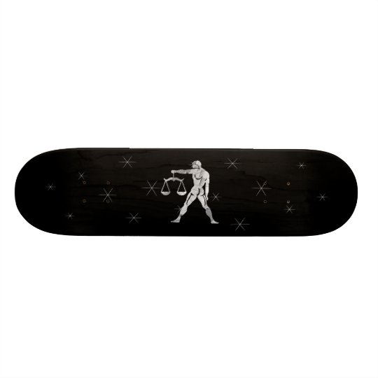 Libra Silver Zodiac Symbol Skateboard Deck