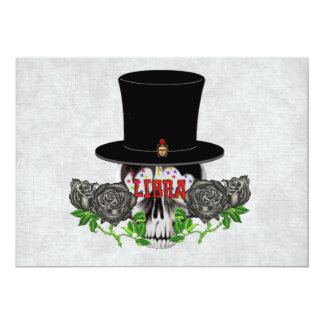 Libra Skull Card