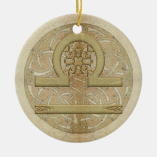 Libra Star Sign Personalized Ornament