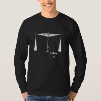 Libra T-shirts with text and glyph