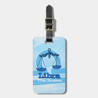 Libra the scales air horoscope id luggage tag