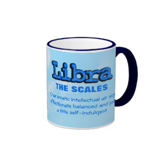 "Libra ""The Scales"" air sign blue astrological mug"