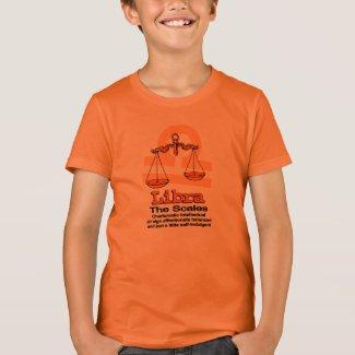 Libra The Scales zodiac astrological orange shirt