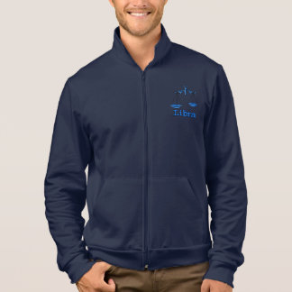 Libra the scales zodiac blue mens zip up jacket