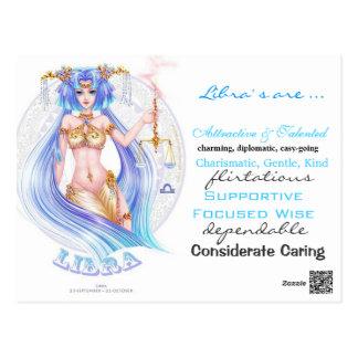 libra traits card