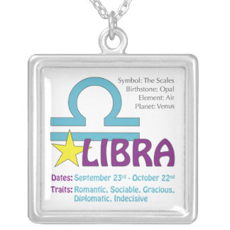 Libra Traits Square Necklace