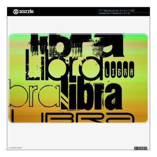 Libra; Vibrant Green, Orange, & Yellow Skins For MacBook Air