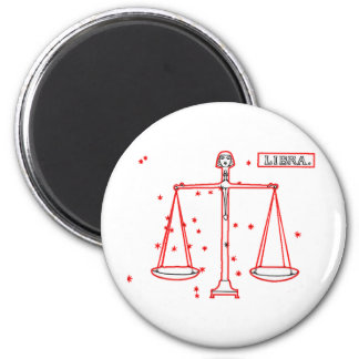 Libra - Waage 2 Inch Round Magnet