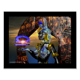 LIBRA WITH CYBER ATHENA POSTER