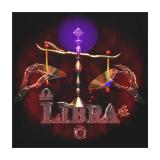 Libra wrapped canvas print by Valxart