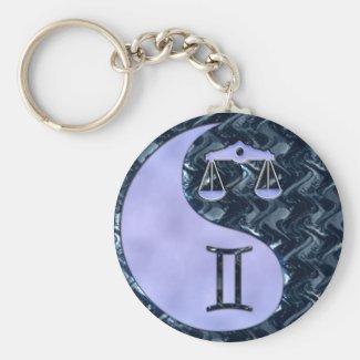 Libra Yin Yang Keychain