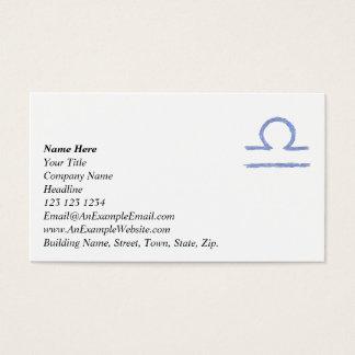 Libra. Zodiac Astrological Sign. Business Card