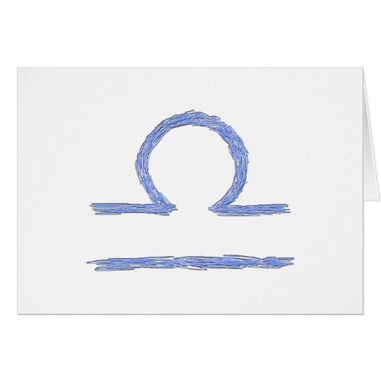 Libra. Zodiac Astrological Sign. Card