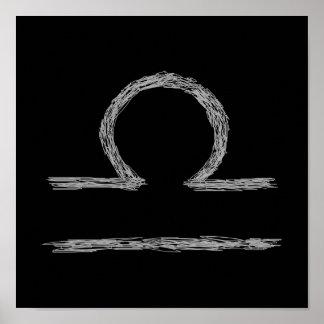 Libra. Zodiac Astrological Sign. Poster
