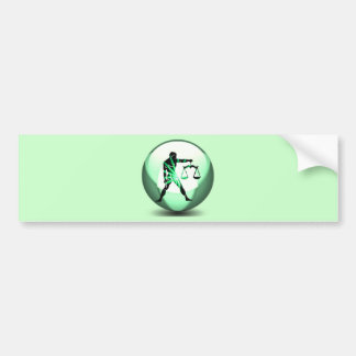 Libra Zodiac Bumper Sticker Car Bumper Sticker