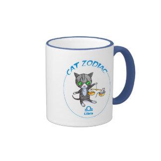 Libra zodiac Cat mug