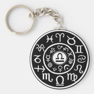 Libra Zodiac Keychain