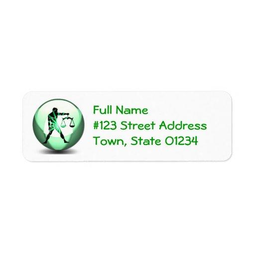 Libra Zodiac Mailing Label