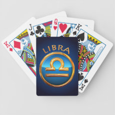 Libra Zodiac Sign Bicycle Playing Cards