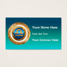 Libra Zodiac Sign Business Card