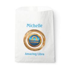 Libra Zodiac Sign Favor Bag