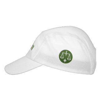 Libra Zodiac Sign Green Headsweats Hat