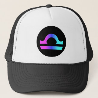 Libra zodiac sign hat circle crest