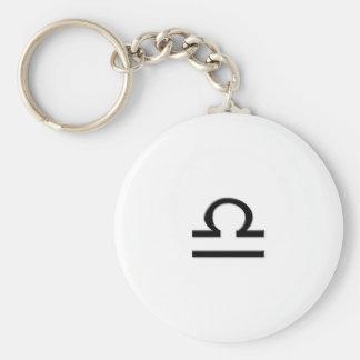 Libra - Zodiac Sign Basic Round Button Keychain