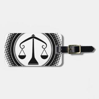 Libra Zodiac Sign. Travel Bag Tags