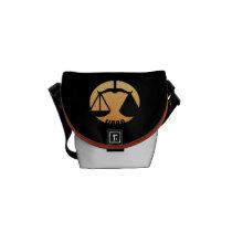 Libra Zodiac Sign Messenger Bag