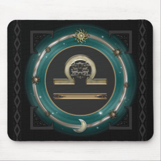 Libra Zodiac Sign Mouse Pad
