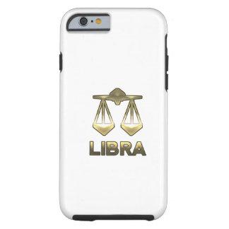 Libra zodiac sign - old gold edition tough iPhone 6 case