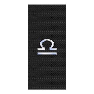 Libra Zodiac Sign on Black Snake Skin Decor Rack Card