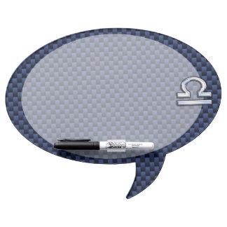 Libra Zodiac Sign on Blue Carbon Fiber Style Dry-Erase Board