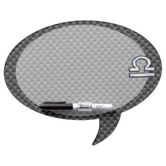 Libra Zodiac Sign on Carbon Fiber Style Dry Erase Board