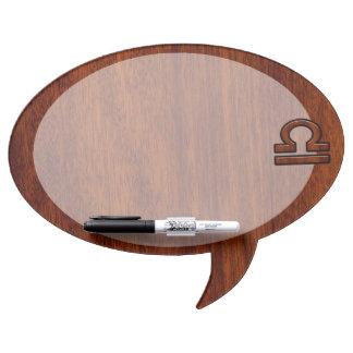 Libra Zodiac Sign on Mahogany Style Decor Dry Erase Board