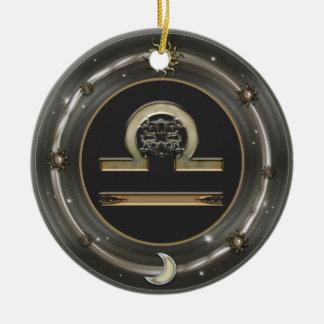 Libra Zodiac Sign Christmas Tree Ornaments