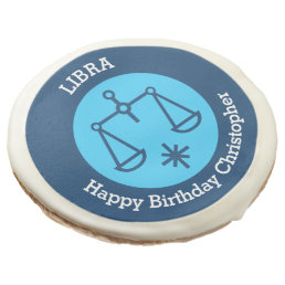 Libra Zodiac sign personalized birthday party Sugar Cookie